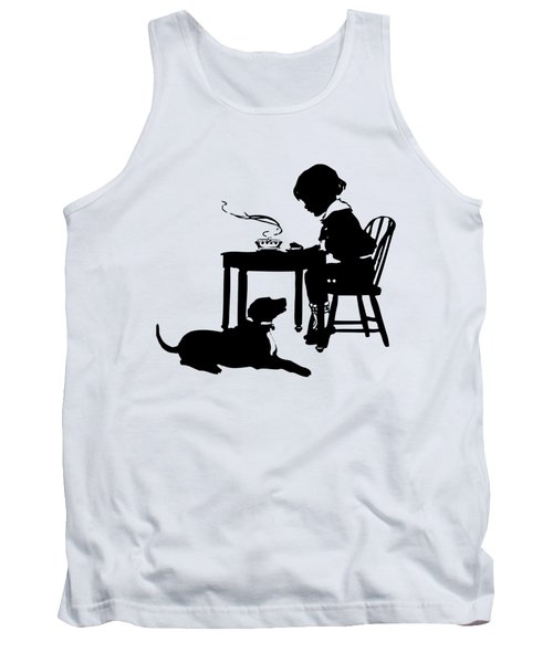 Dining With The Dog Silhouette Tank Top