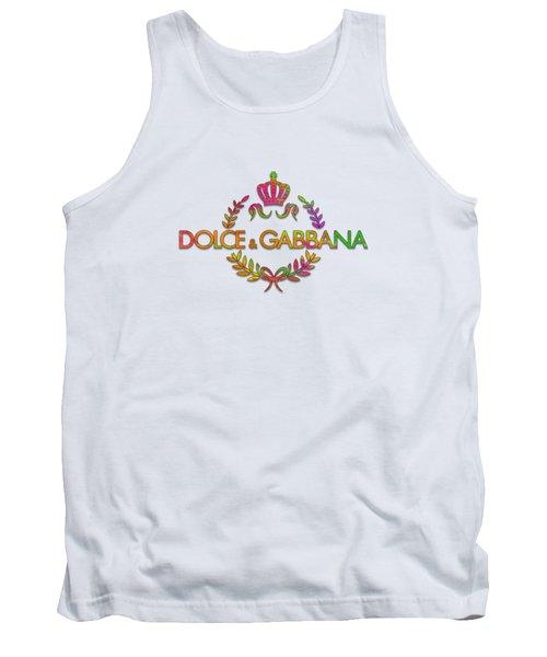 Dolce And Gabbana Paint Design Tank Top
