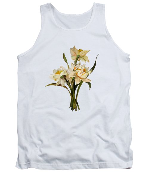 Double Narcissi Spring Flower Bouquet  Tank Top