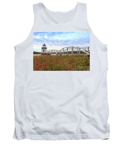 Doubling Point Lighthouse In Maine Tank Top