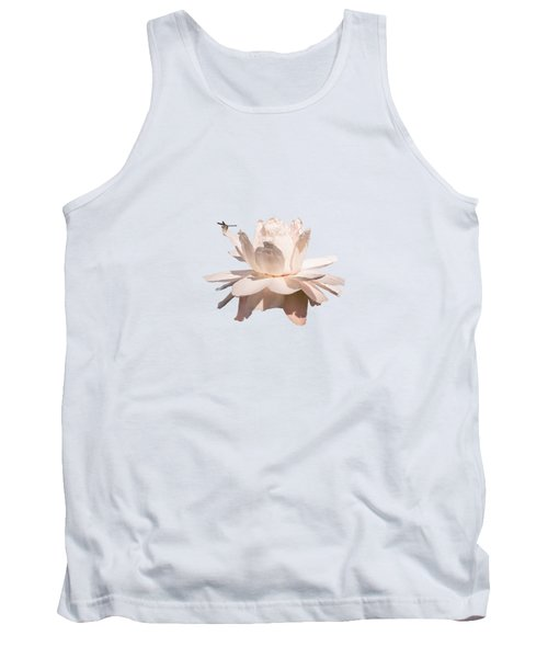 Dragonfly On Giant Victoria Cruziana Waterlily  Tank Top