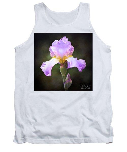 Dramatic Purple Iris Tank Top