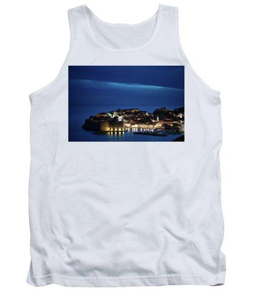 Dubrovnik Old Town At Night Tank Top