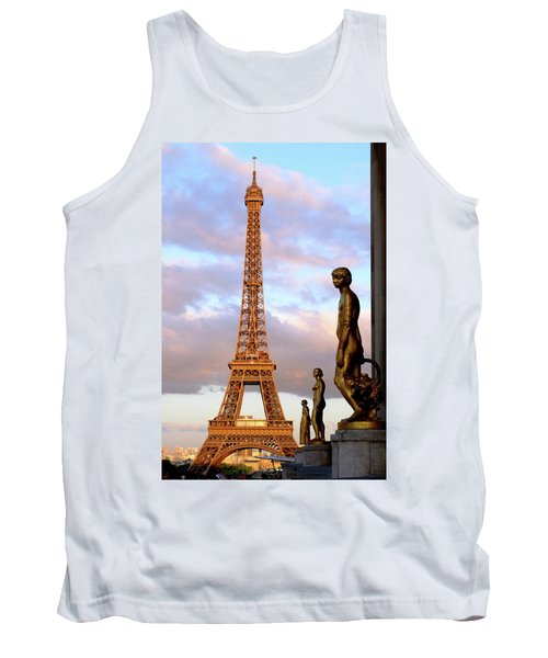 Eiffel Tower At Sunset Tank Top