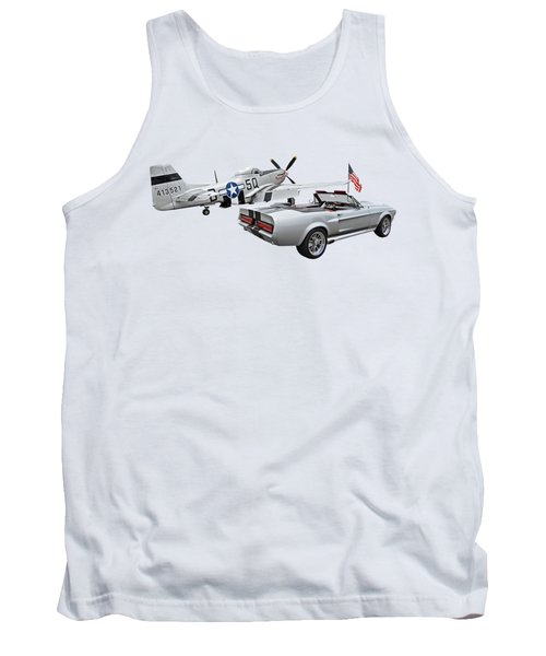 Eleanor Mustang With P51 Rear Tank Top