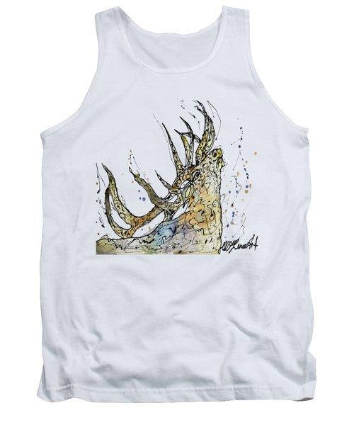 Elk Art Print By Olena Art Tank Top