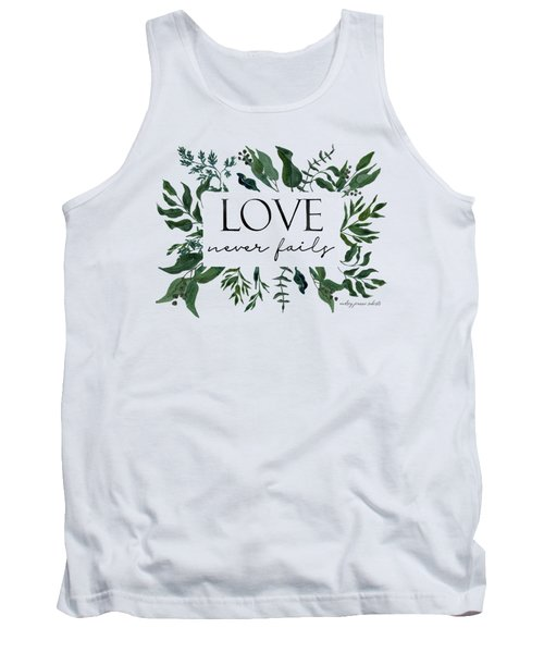 Emerald Wild Forest Foliage 2 Watercolor Tank Top