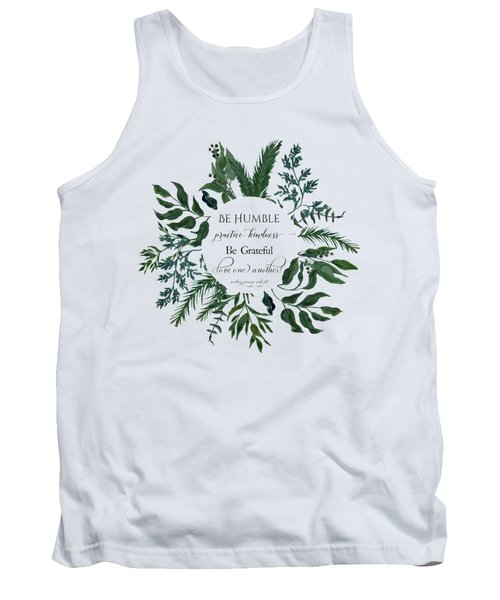 Emerald Wild Forest Foliage Watercolor Tank Top