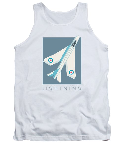 English Electric Lightning Fighter Jet Aircraft - Slate Tank Top