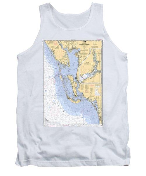 Estero Bay To Lemon Bay, Noaa Chart 11426 Tank Top