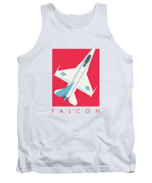 F-16 Falcon Fighter Jet Aircraft - Crimson Tank Top