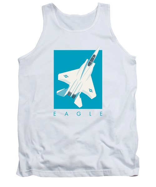 F15 Eagle Fighter Jet Aircraft - Blue Tank Top