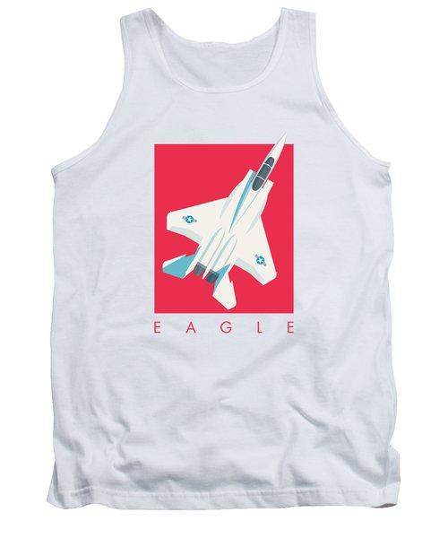 F15 Eagle Fighter Jet Aircraft - Crimson Tank Top