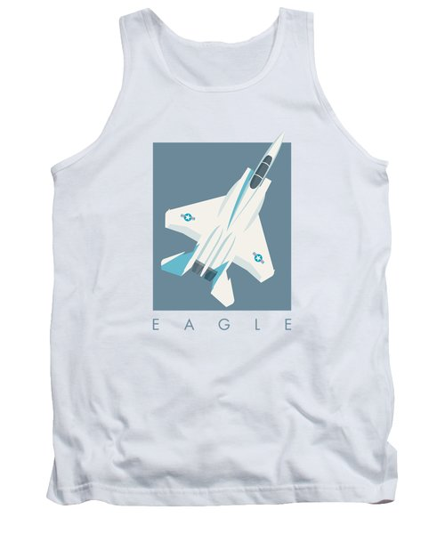 F15 Eagle Fighter Jet Aircraft - Slate Tank Top