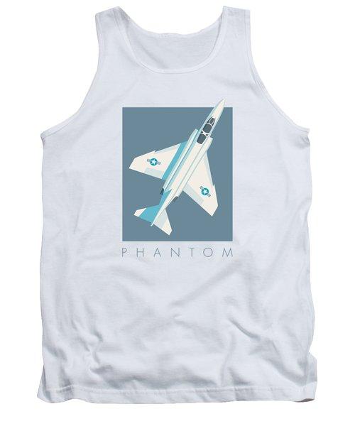 F4 Phantom Jet Fighter Aircraft - Slate Tank Top