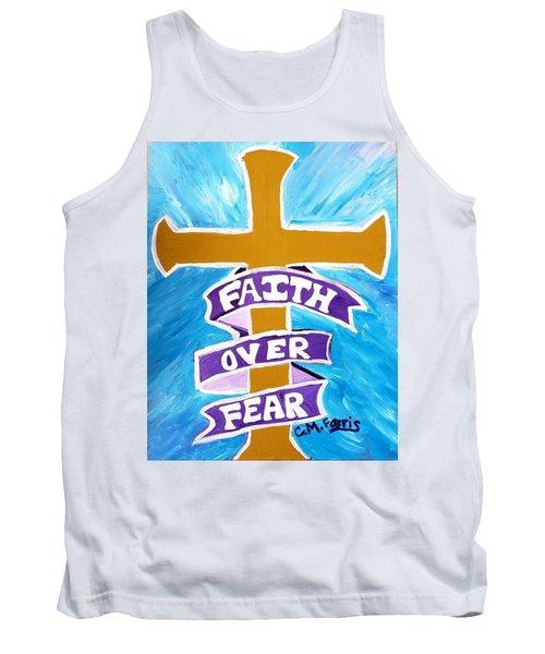 Faith Over Fear Cross  Tank Top
