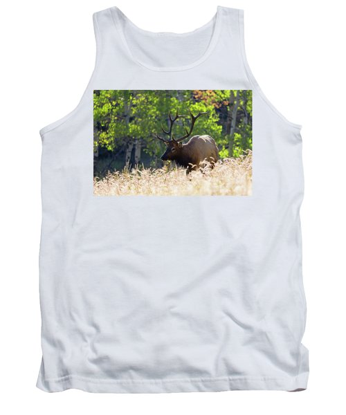 Fall Color Rocky Mountain Bull Elk Tank Top