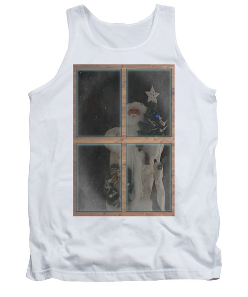 Father Christmas In Window Tank Top