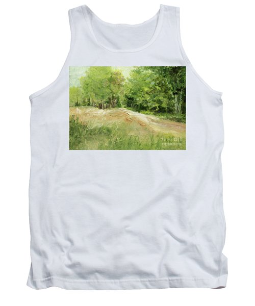 Woodland Trees And Dirt Road Tank Top