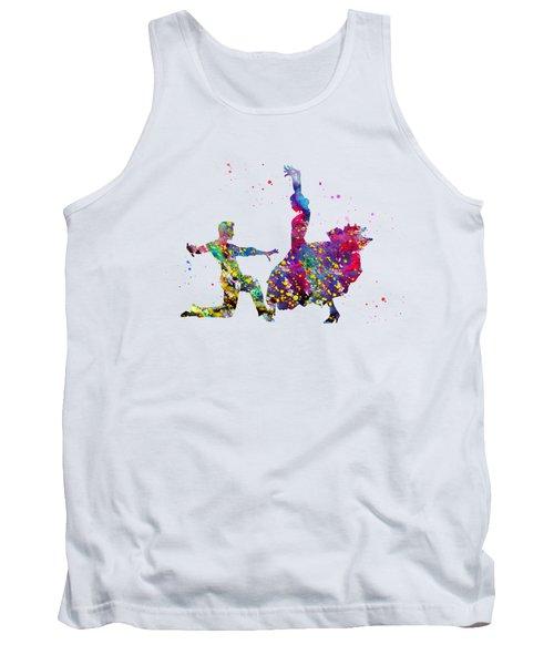 Flamenco Dancers-colorful Tank Top