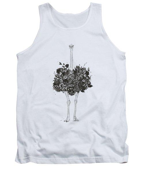Floral Ostrich Tank Top
