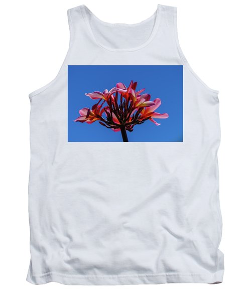 Flowers In Clear Blue Sky Tank Top
