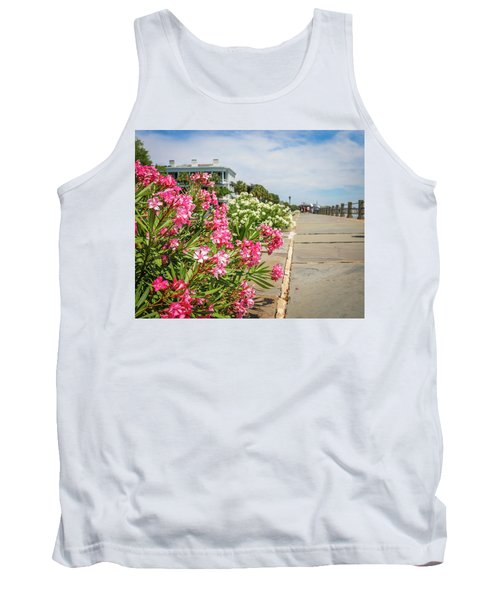 Flowers On The Battery Tank Top