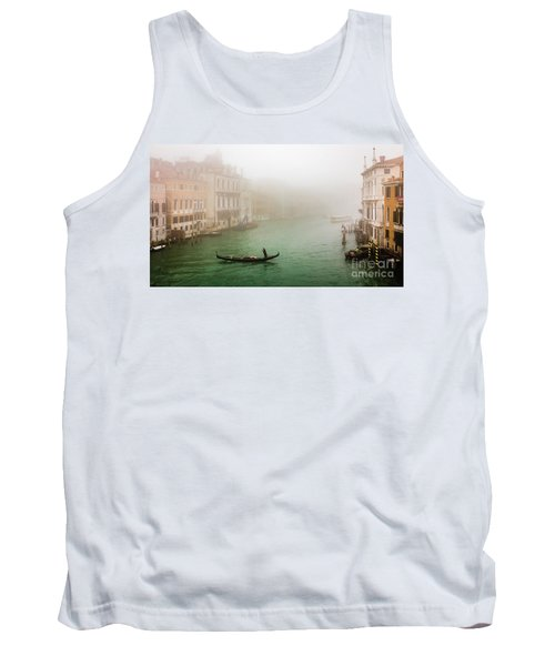 Foggy Morning On The Grand Canale, Venezia, Italy Tank Top
