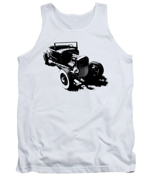 Ford Flathead Roadster Two Blk Tank Top