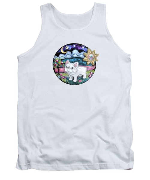 French Bull Dog Puppy Jewelry Art Tank Top