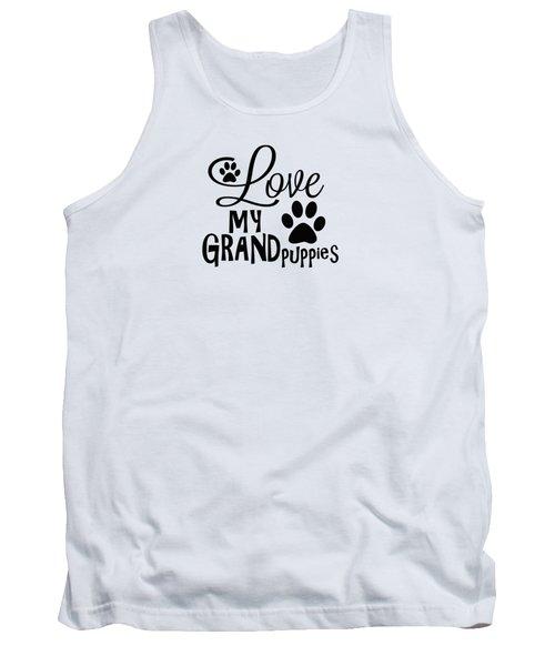 Fun Dog Gifts And Ideas Love My Grandpuppies Tank Top
