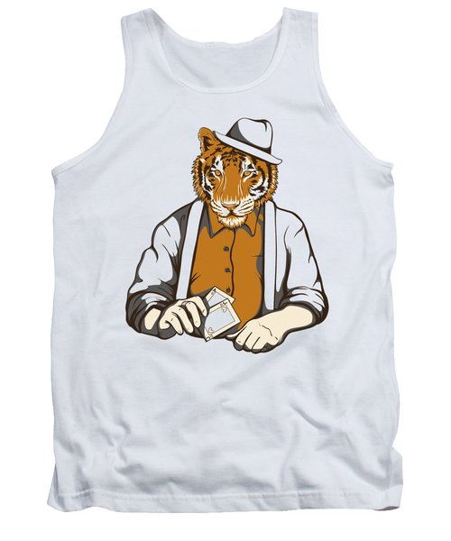 Gambling Tiger Tank Top