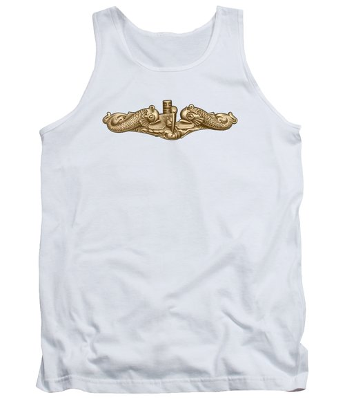 Gold Submarine Dolphins Tank Top