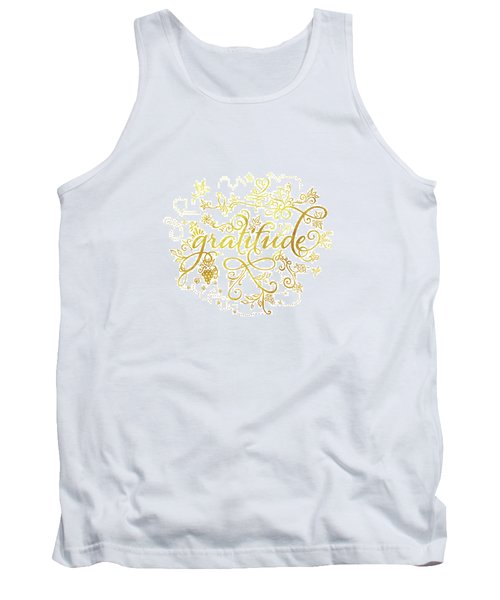 Golden Gratitude Tank Top