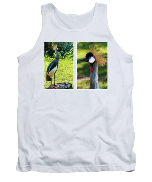 Grey Crowned Crane Gulf Shores Al Collage 10 Diptych Tank Top