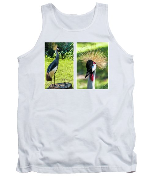 Grey Crowned Crane Gulf Shores Al Collage 8 Diptych Tank Top