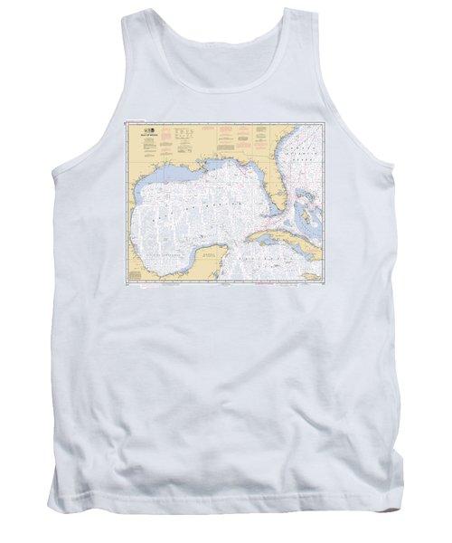 Gulf Of Mexico, Noaa Chart 411 Tank Top