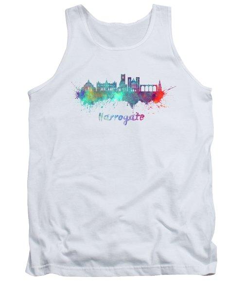 Harrogate Skyline In Watercolor Splatters Tank Top