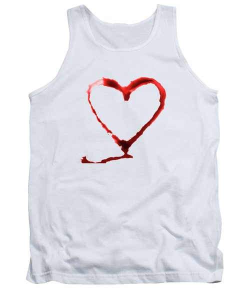 Heart Shape From Splaches And Blobs Tank Top
