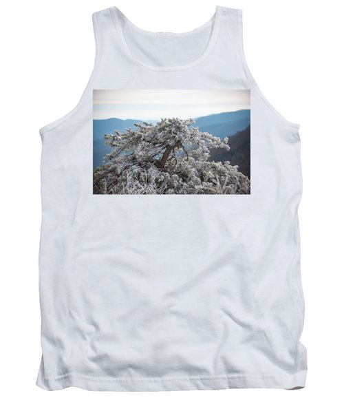 Hoarfrost In The Blue Ridge Mountains Tank Top