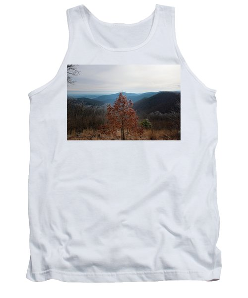 Hoarfrost On Fall Leaves Tank Top