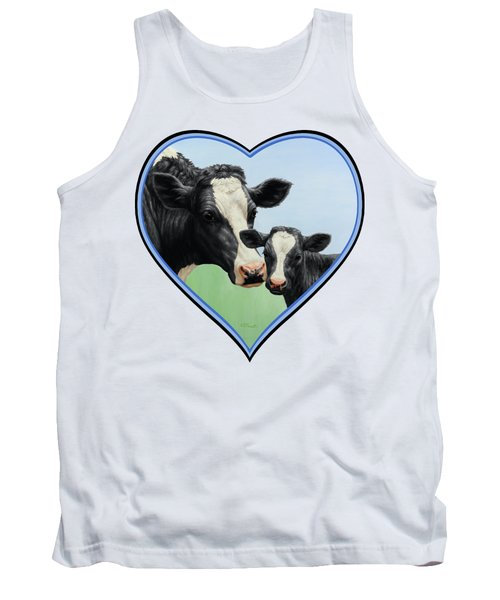 Holstein Cow And Calf Tank Top