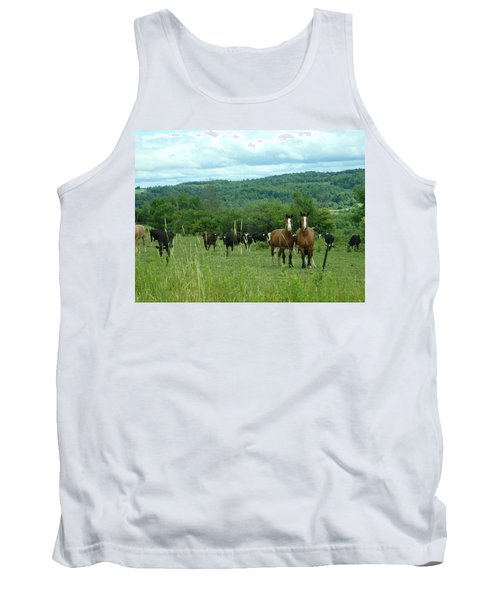 Horse And Cow Tank Top