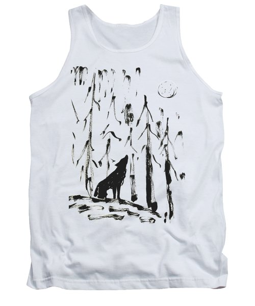 Tank Top featuring the painting Howl #2 by Maria Langgle
