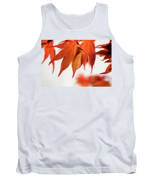 Imperfect Perfection. Red Maple Leaves Abstract 21 Tank Top