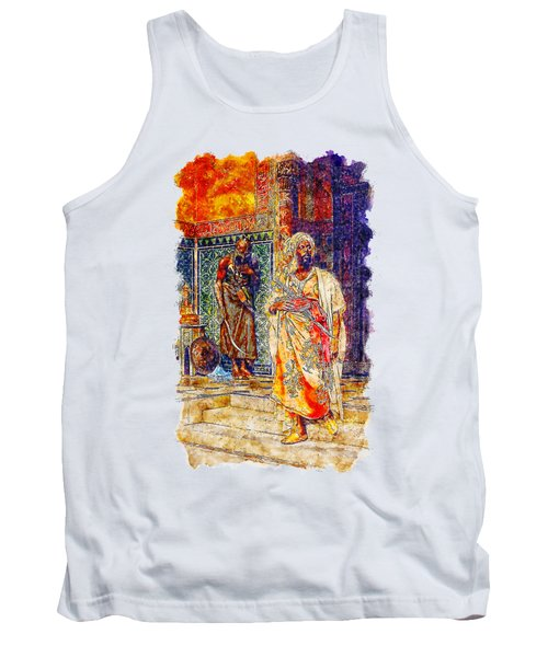 Impressionist Watercolor Drawing - Palace Door Guard Tank Top