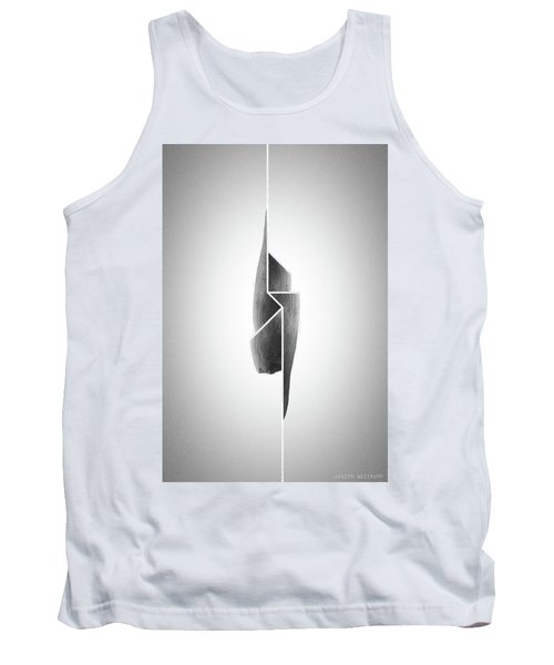 Innaiant Coal Redux - Surreal Abstract Jawbone Collage Tank Top