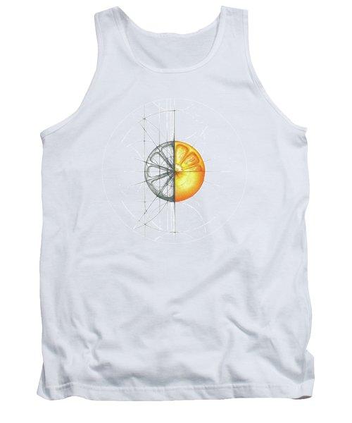Intuitive Geometry Orange Tank Top