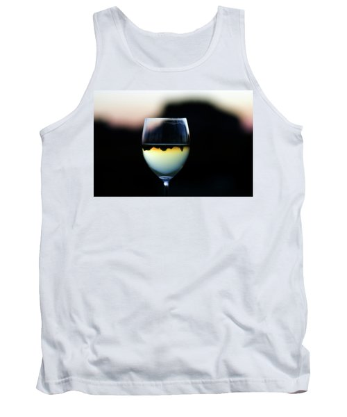 Inverted Landscape In Wine Glass Tank Top