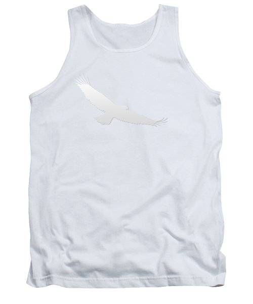 Isolated Bald Eagle 2018-3 Gradient Tank Top